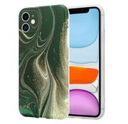 ShieldCase® Marmeren iPhone 11 hoesje met camerabescherming (groen)
