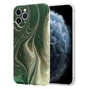 ShieldCase® Marmeren iPhone 11 Pro hoesje met camerabescherming (groen)