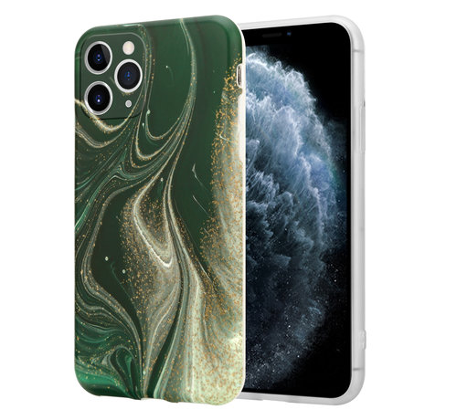 ShieldCase® ShieldCase Marmeren iPhone 11 Pro hoesje met camerabescherming (groen)