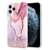 ShieldCase® Marmeren iPhone 11 Pro hoesje met camerabescherming (paars)