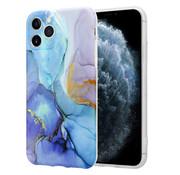 ShieldCase® Marmeren iPhone 11 Pro Max hoesje met camerabescherming (donkerblauw)
