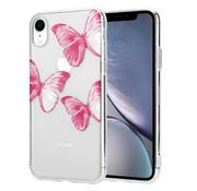 ShieldCase® Pink Butterflies iPhone Xr hoesje