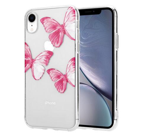 ShieldCase® ShieldCase Pink Butterflies iPhone Xr hoesje