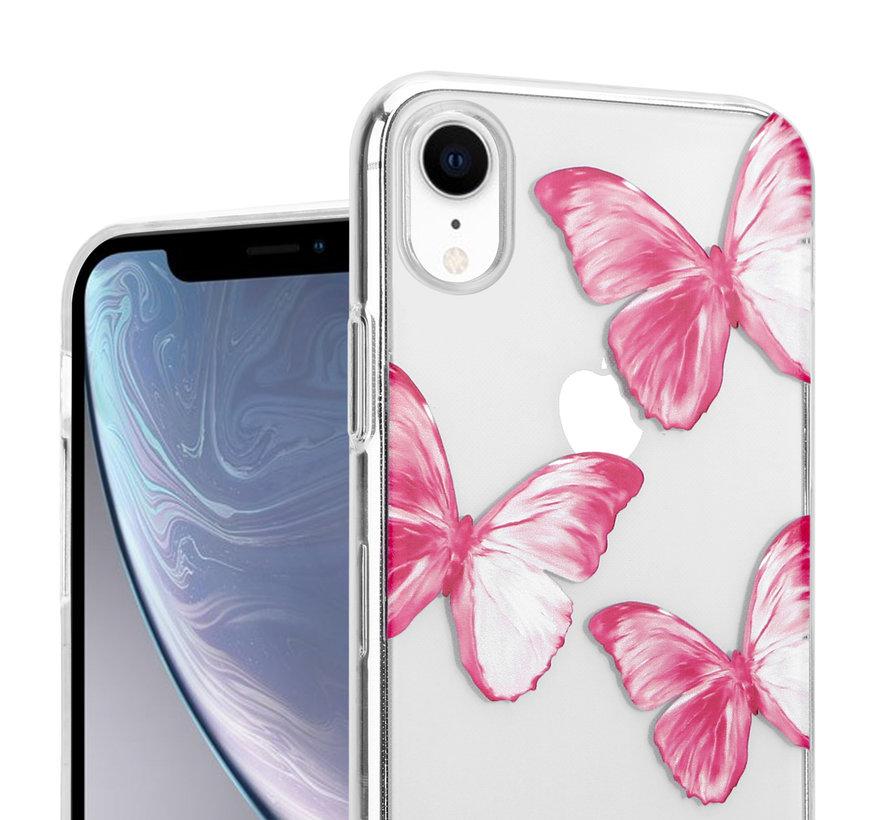 ShieldCase Pink Butterflies iPhone Xr hoesje