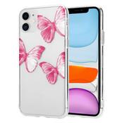 ShieldCase® Pink Butterflies iPhone 11 hoesje