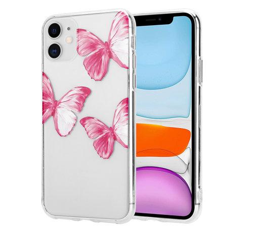 ShieldCase® ShieldCase Pink Butterflies iPhone 11 hoesje