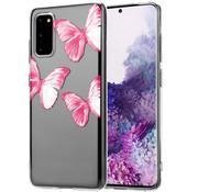 ShieldCase® Samsung Galaxy S20 Pink Butterflies hoesje