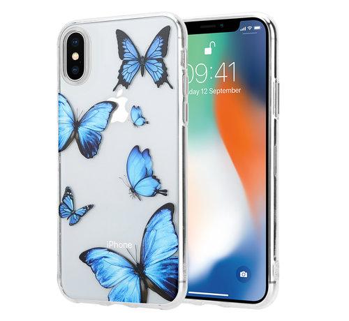 ShieldCase® ShieldCase iPhone X / Xs hoesje met vlinders