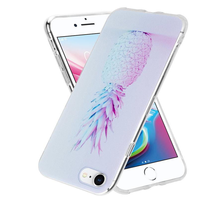 ShieldCase hoesje met ananas print Hoesje met ananas print iPhone 7 / 8