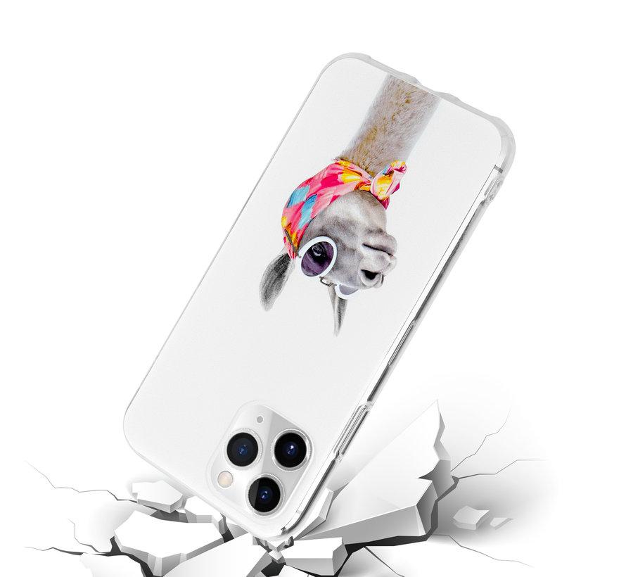 ShieldCase iPhone 12 Pro Max  hoesje met lama print