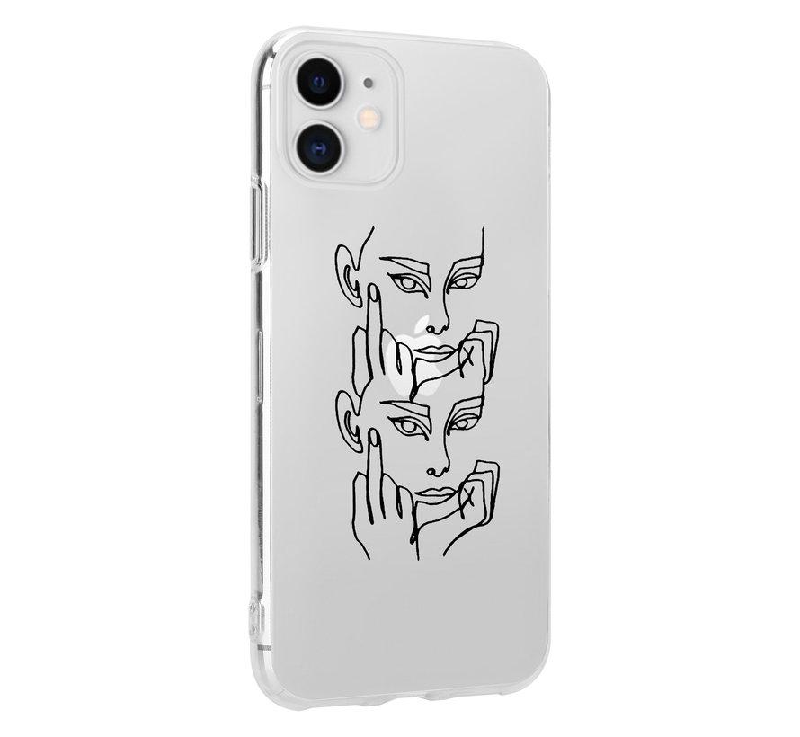 ShieldCase iPhone 11 hoesje met middelvinger