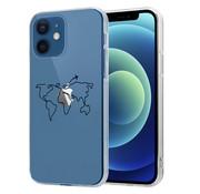 ShieldCase® iPhone 12 Mini - 5.4 inch hoesje met atlas/reis patroon