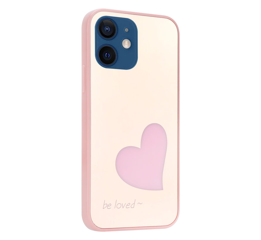 ShieldCase iPhone 12 Mini - 5.4 inch hoesje met roze hartje