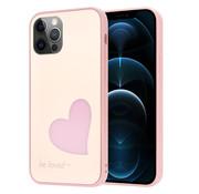 ShieldCase® iPhone 12 Pro - 6.1 inch hoesje met roze hartje