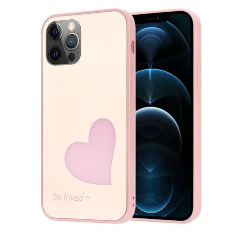 ShieldCase® ShieldCase iPhone 12 Pro - 6.1 inch hoesje met roze hartje