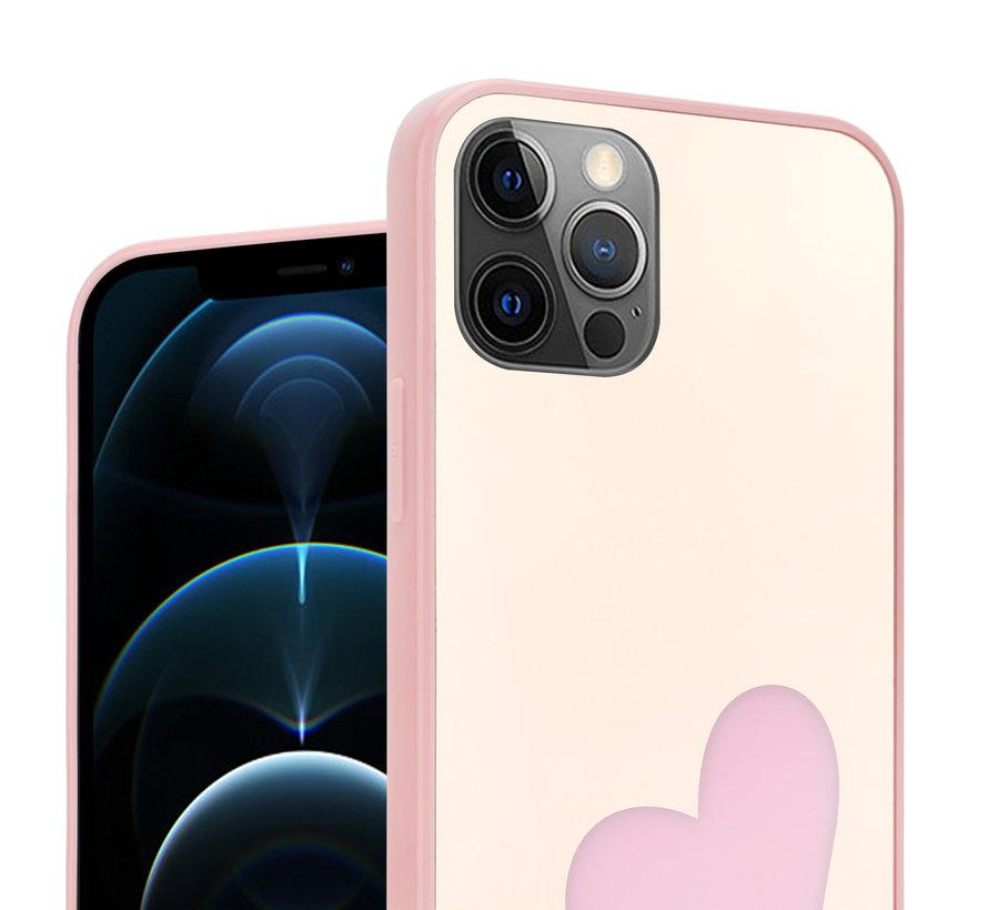ShieldCase iPhone 12 Pro - 6.1 inch hoesje met roze hartje