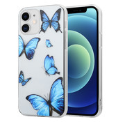 ShieldCase® iPhone 12 Mini - 5.4 inch hoesje met vlinders