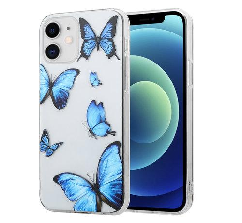 ShieldCase® ShieldCase iPhone 12 Mini - 5.4 inch hoesje met vlinders