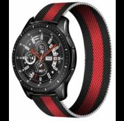 Samsung Galaxy Watch Milanese band (zwart/rood)