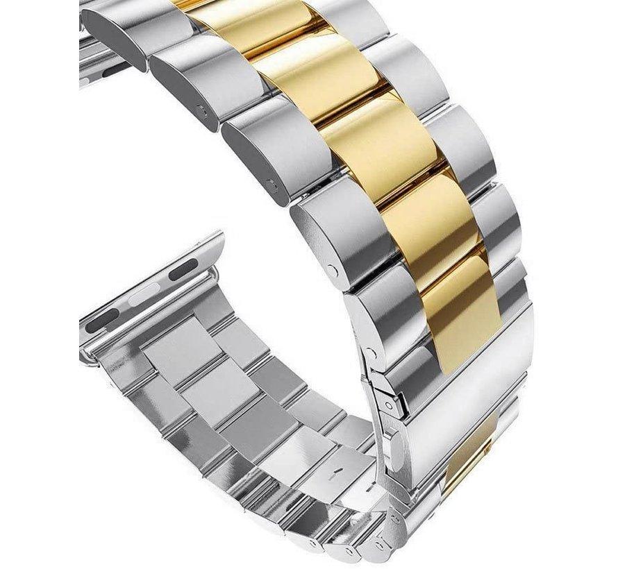 Apple Watch stalen band (zilver goud)
