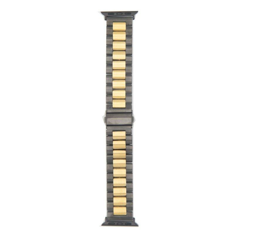 Apple Watch stalen band (zwart goud)