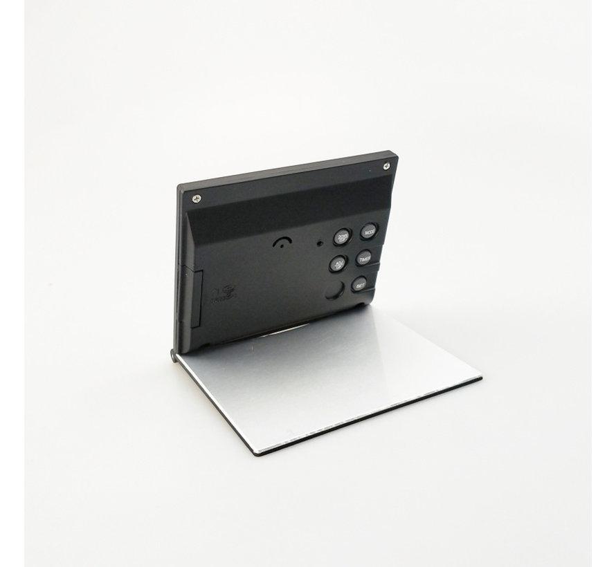 Digitale compacte klok - Digitale alarmklok met kalender - Digitale Temperatuur meter