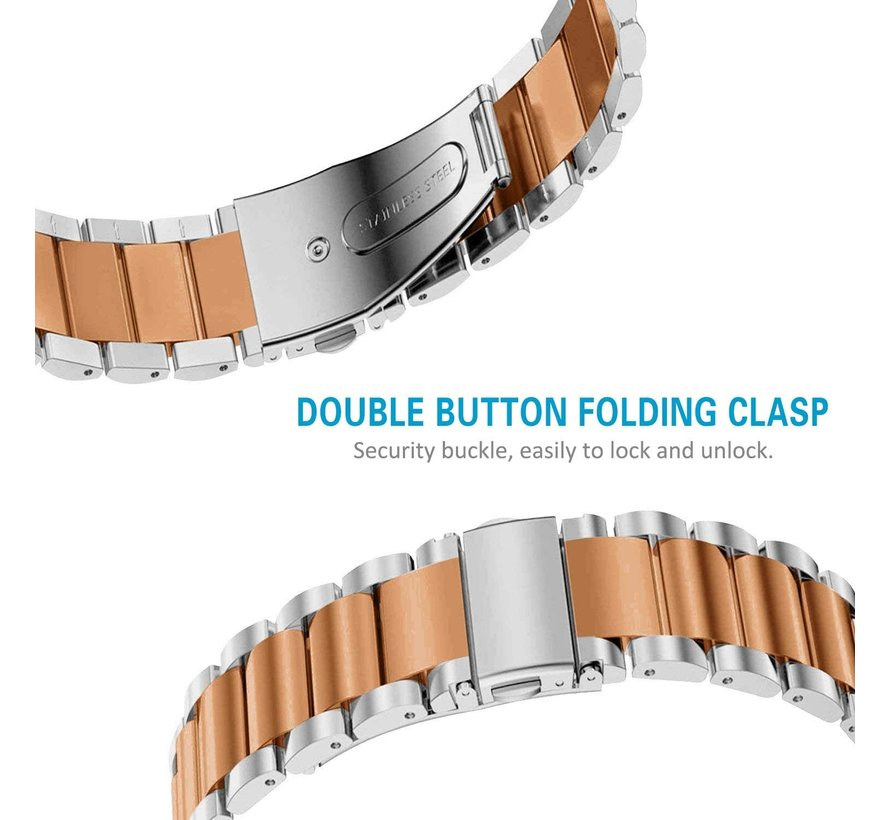 Fitbit Charge 3 stalen bandje (zilver/rosé goud)