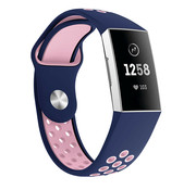 Fitbit Charge 3 sport band (donkerblauw/roze)