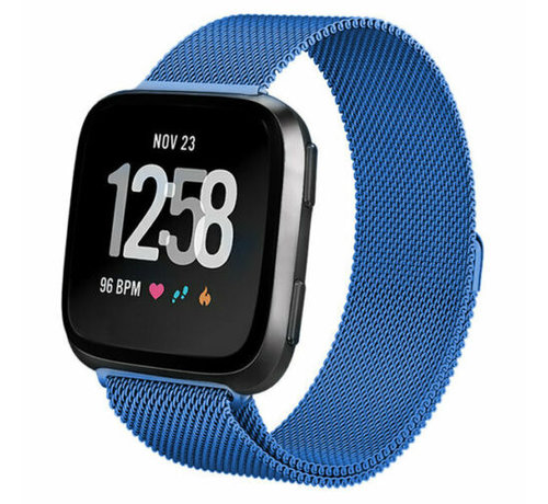 Fitbit Versa Milanese band (blauw)