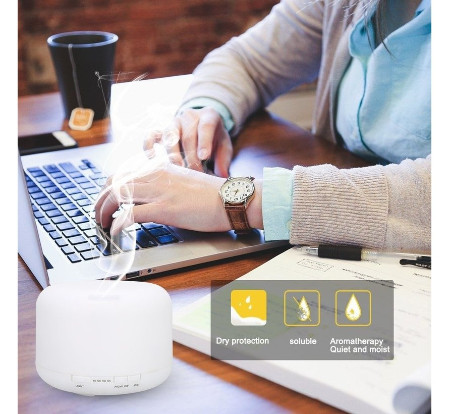 Aroma diffuser / vernevelaar voor essentiële olie / luchtbevochtiger met LED licht