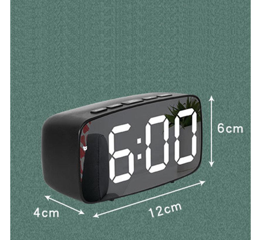 Spiegel wekker / alarmklok / USB aansluiting