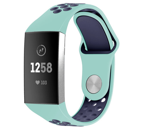 Fitbit Charge 4 sport band (aqua/donkerblauw)