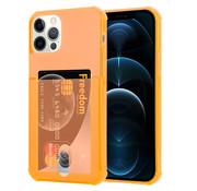 ShieldCase® Shock case met pashouder iPhone 12 Pro - 6.1 inch - Oranje