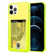 ShieldCase® Shock case met pashouder iPhone 12 Pro - 6.1 inch - Geel