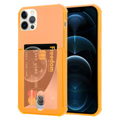 ShieldCase® Shock case met pashouder iPhone 12 Pro Max - 6.7 inch - Oranje