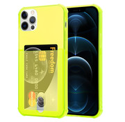 ShieldCase® Shock case met pashouder iPhone 12 Pro Max - 6.7 inch - Geel