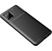 ShieldCase® Samsung Galaxy A42 5G carbon hoesje (zwart)