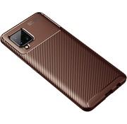 ShieldCase® Samsung Galaxy A42 5G carbon hoesje (bruin)