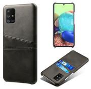 ShieldCase® Vintage case met pashouder Samsung Galaxy M51 (zwart)