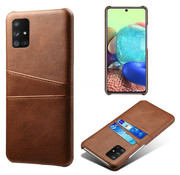 ShieldCase® Vintage case met pashouder Samsung Galaxy M51 (bruin)