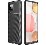 ShieldCase® Samsung Galaxy A12 carbon hoesje (zwart)