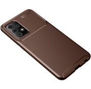 ShieldCase® Samsung Galaxy A72 carbon hoesje (bruin)