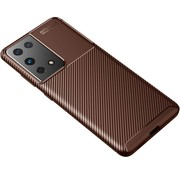 ShieldCase® Samsung Galaxy S21 Ultra carbon hoesje (bruin)