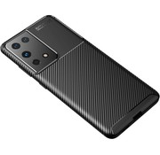 ShieldCase® Samsung Galaxy S21 Ultra carbon hoesje (zwart)