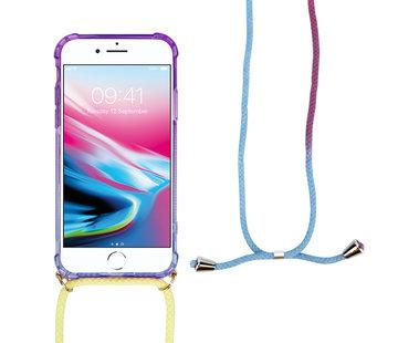 ShieldCase® Rainbow iPhone 7 / 8 hoesje met koord