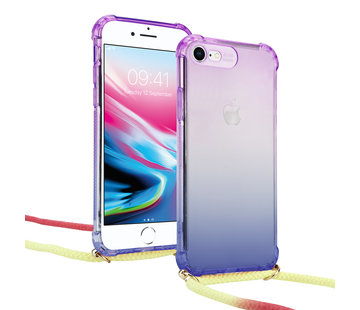 ShieldCase® Rainbow  iPhone SE 2020 hoesje met koord