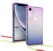 ShieldCase® Rainbow iPhone Xr hoesje met koord