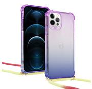 ShieldCase® Rainbow iPhone 12 Pro Max 6.7 inch hoesje met koord