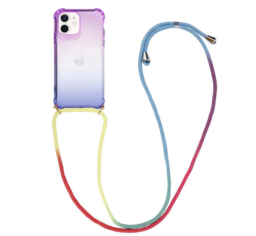 ShieldCase Rainbow iPhone 12 - 6.1 inch hoesje met koord