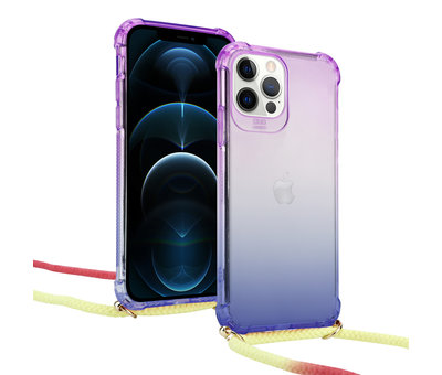 ShieldCase® ShieldCase Rainbow iPhone 12 Pro - 6.1 inch hoesje met koord